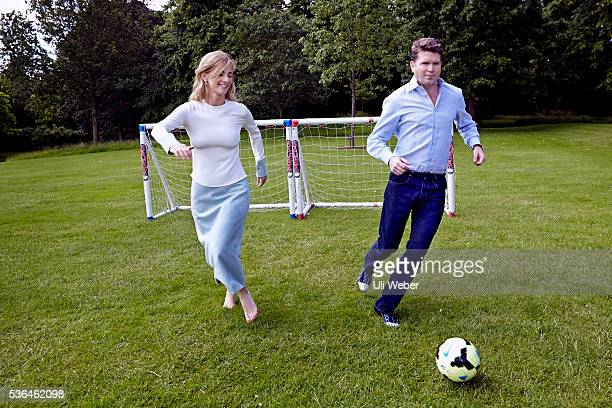 United States Ambassador to the United Kingdom Matthew Barzun is photographed with his wife Brooke for Tatler magazine on June 11 2014 in London...