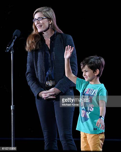 United States Ambassador to the United Nations Samantha Power and activist Alex present onstage at the 2016 Global Citizen Festival to End Extreme...
