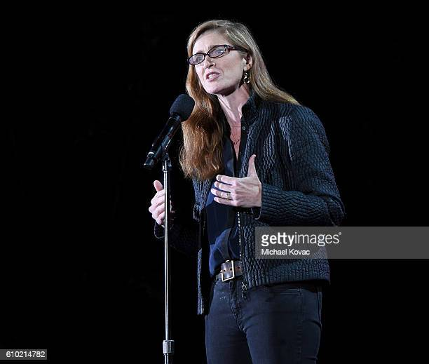 United States Ambassador to the United Nations Samantha Power presents onstage at the 2016 Global Citizen Festival to End Extreme Poverty by 2030 at...