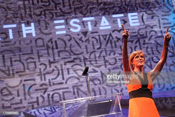 United States Ambassador to the United Nations Samantha Power attends the Invisible Children's 4th Estate Leadership summit held at UCLA on August 10...