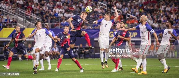 United States and Costa Rica during the CONCACAF Gold Cup Semifnal game between USA and Costa Rica on July 22nd 2017 at ATT Stadium in Arlington...
