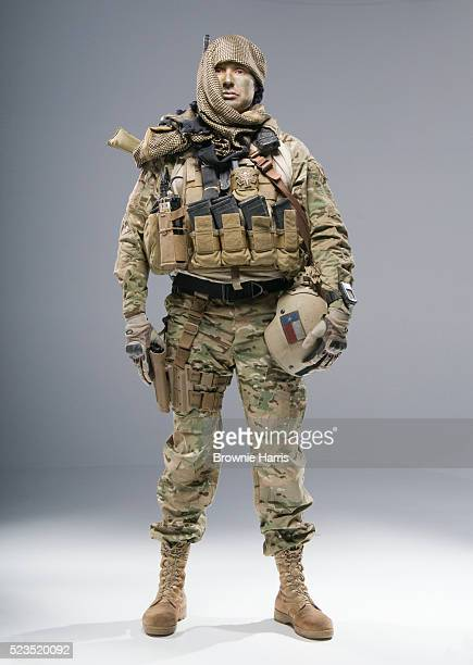 united states army airborne special forces sniper in camouflage field uniform with afghan lungee type headdress - special forces stock pictures, royalty-free photos & images