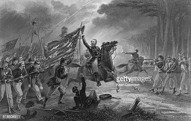 United States Army officer during the Mexican-American War and American Civil War, Philip Kearny, Jr. Leading the charge at the Battle of Chantilly,...