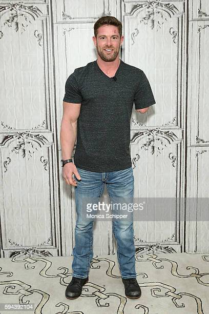 United States Army veteran and motivational speaker Noah Galloway attends AOL Build Presents Noah Galloway Discussing His Book 'Living With No...