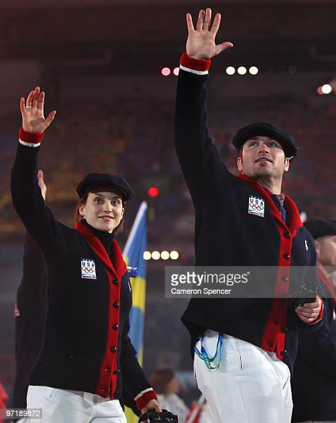 United States athletes enter the stadium during the Closing Ceremony of the Vancouver 2010 Winter Olympics at BC Place on February 28, 2010 in...