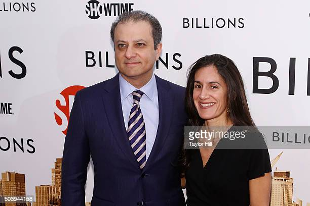 United States Attorney for the Southern District of New York Preet Bharara and Dalya Bharara attend Showtime's Billions series premiere at Museum of...