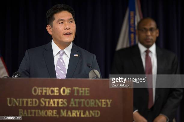 United States Attorney Robert Hur departs after a news conference about the indictment of Kevin Merrill Jay Ledford and Cameron Jezierski by a...