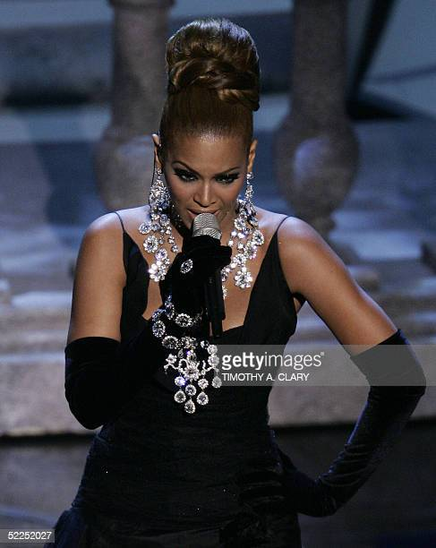 Beyonce performs of Learn to Be Lonely nominated for Best Original Song from The Phantom of the Opera during the 77th Academy Awards show 27 February...