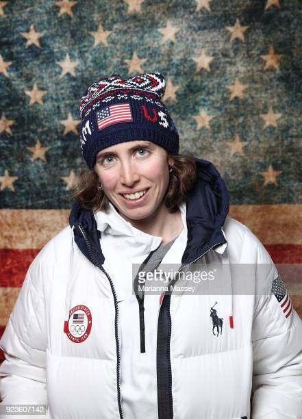 United States Biathon Susan Dunklee poses for a portrait on the Today Show Set on February 23, 2018 in Gangneung, South Korea.