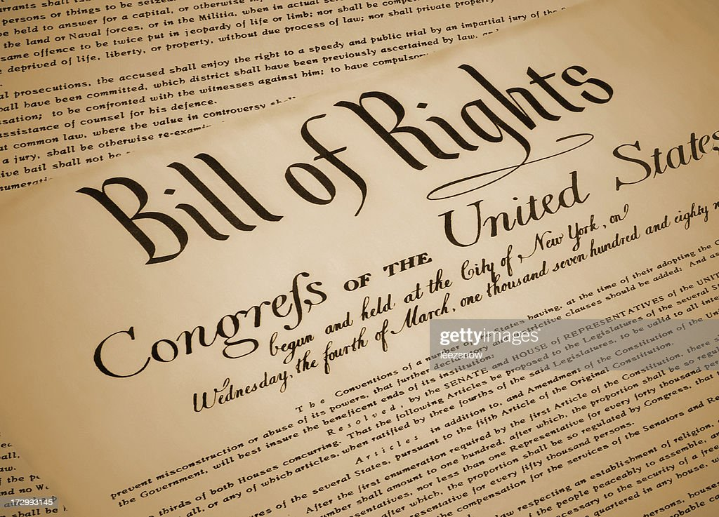 United States Bill of Rights Document Replica : Stock Photo