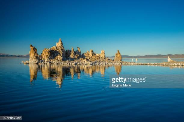 United States, California, Mono Lake at sunset, South Tufa