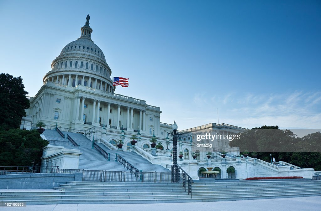 United States Capitol West Facade : Stock Photo