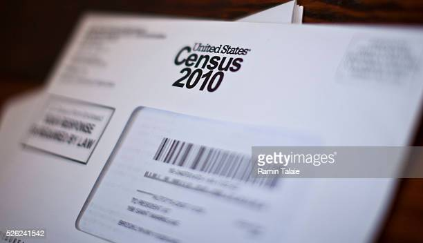 A United States Census 2010 questionier packet is photographed in Brooklyn New York on April 5 2010 Census 2010 questioniers sent to all Americans...