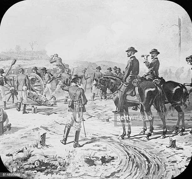 United States Civil War Sherman supervising the seige of Atlanta