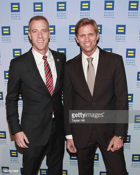 United States Congressman Sean Patrick Maloney DNY18 and partner Randy Florke attend The 2013 Greater New York Human Rights Campaign Gala at The...