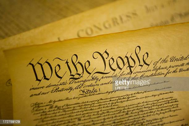 united states constitution - bill of rights stock photos and pictures
