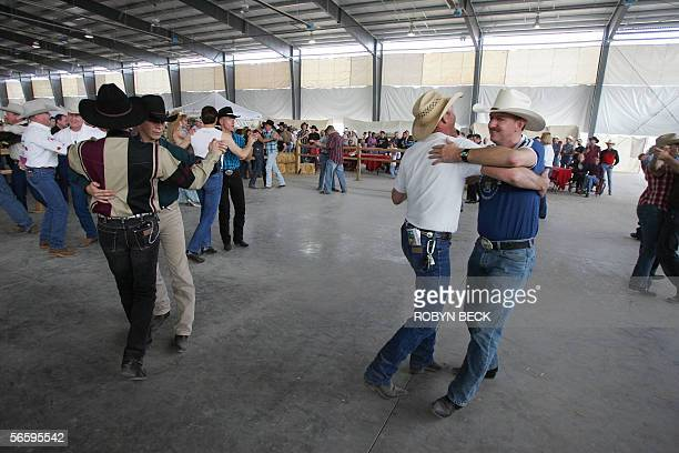Couples dance 14 January 2006 at the 2006 Road Runner Region Rodeo in Chandler AZ The rodeo is part of the International Gay Rodeo Association annual...