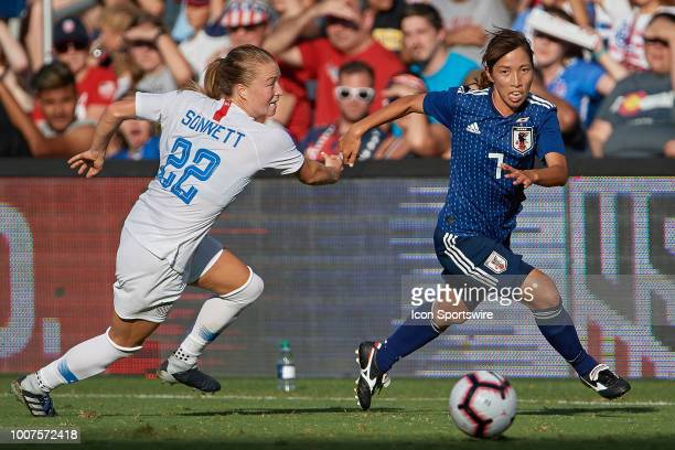 United States defender Abby Dahlkemper battles with United States defender Emily Sonnett for the ball in game action during a Tournament of Nations...