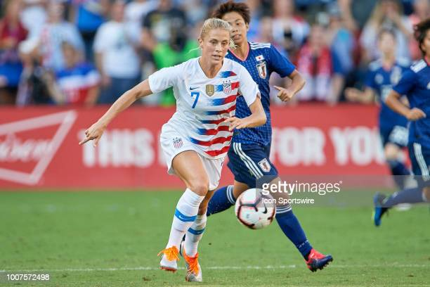 United States defender Abby Dahlkemper chases the ball in game action during a Tournament of Nations match between the United States and Japan on...