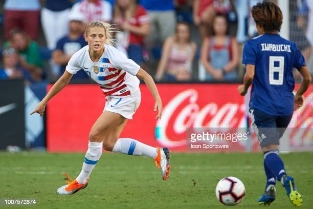 United States defender Abby Dahlkemper defends against Japan forward Mana Iwabuchi in game action during a Tournament of Nations match between the...