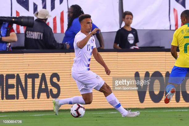 United States defender Antonee Robinson during the first half of the International Friendly Soccer match between the the United States and Brazil on...