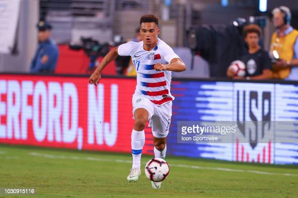 United States defender Antonee Robinson during the International Friendly Soccer match between the the United States and Brazil on September 7 2018...