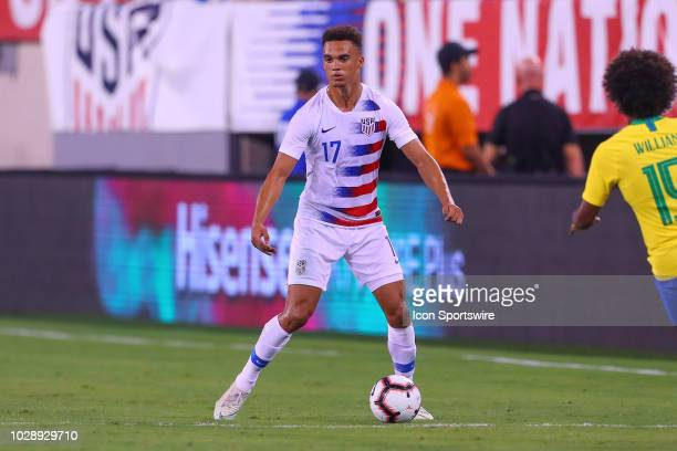 United States defender Antonee Robinson during the second half of the International Friendly Soccer match between the the United States and Brazil on...