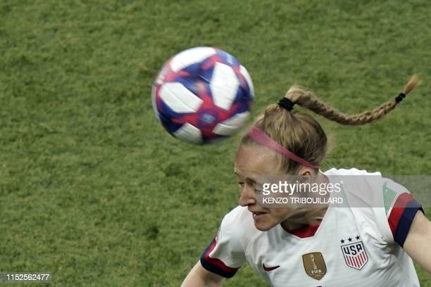 TOPSHOT United States' defender Becky Sauerbrunn during the France 2019 Women's World Cup quarterfinal football match between France and USA on June...