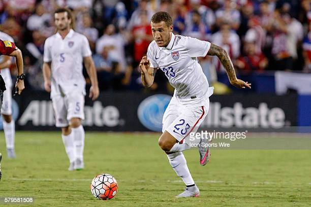 United States defender Fabian Johnson during the Group A CONCACAF Gold Cup stage match between the United States and Honduras national teams played a...