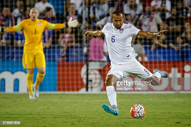 United States defender John Brooks during the Group A CONCACAF Gold Cup stage match between the United States and Honduras national teams played a...