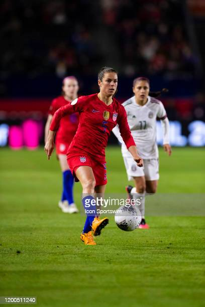 United States defender Kelley O'hara during the CONCACAF Womens Olympic Qualifying Semifinal against Mexico on Friday Feb 7 2020 at Dignity Health...
