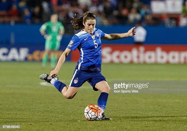 United States Defender Kelley O'Hara during the Women's Olympic Soccer Qualifying group stage match between the United States and Puerto Rico...