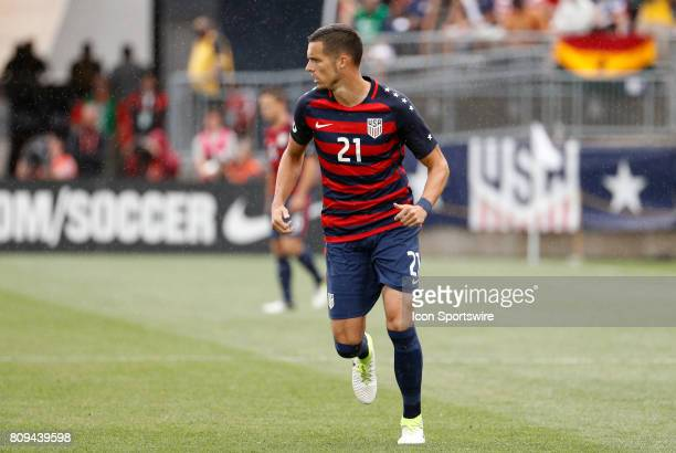 United States defender Matt Hedges keeps a close eye on the action during an international friendly between the United States and Ghana on July 1 at...