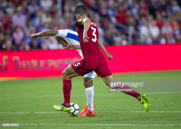 United States defender Omar Gonzalez defending during the World Cup Qualifier soccer match between the USA Mens National Team and Panama National...