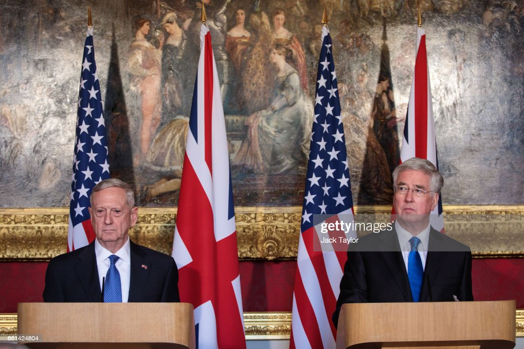 Michael Fallon Meets US Defense Secretary