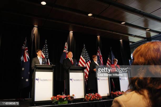 United States Defense Secretary, Mark Esper, United States Secretary of State, Mike Pompeo, Australian Foreign Minister, Marise Payne and Australian...