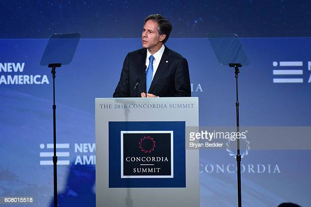 United States Deputy Secretary of State and the former Deputy National Security Advisor Anthony Blinken speaks at the 2016 Concordia Summit - Day 1...