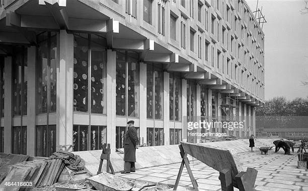 United States Embassy Grosvenor Square Mayfair London 19581961 Exterior view showing the site nearing completion
