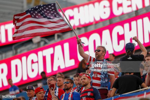 United States fan during the International Friendly match between the United States and Mexico on April 5 2018 at EverBank Field in Jacksonville Fl
