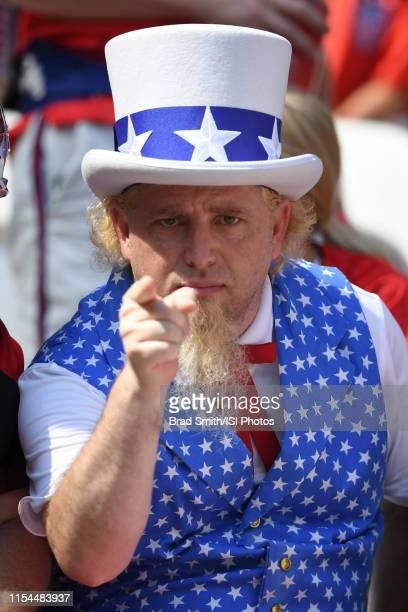 United States fan prior to the 2019 FIFA Women's World Cup France final match between the Netherlands and the United States at Stade de Lyon on July...
