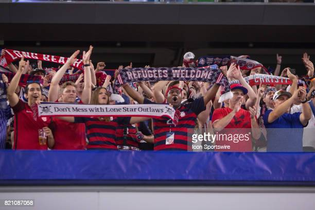 United States fans during the CONCACAF Gold Cup Semifnal game between USA and Costa Rica on July 22nd 2017 at ATT Stadium in Arlington Texas Team USA...