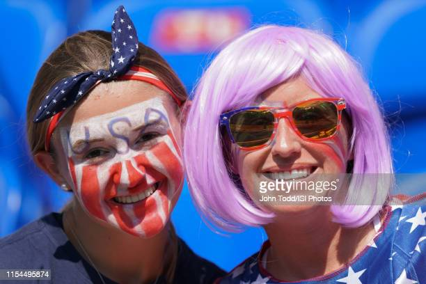 United States fans prior to the 2019 FIFA Women's World Cup France final match between the Netherlands and the United States at Stade de Lyon on July...
