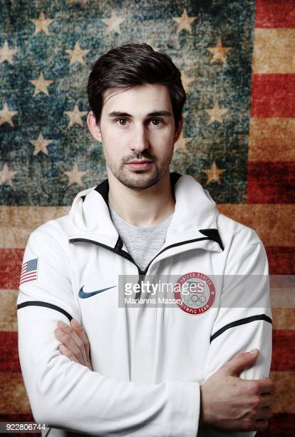 United States Figure skater Zachary Donohue poses for a portrait on the Today Show Set on February 21 2018 in Gangneung South Korea