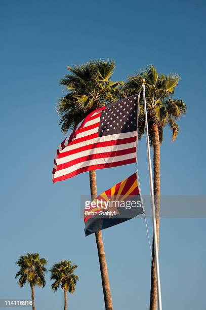 United States Flag, State of Arizona Flag