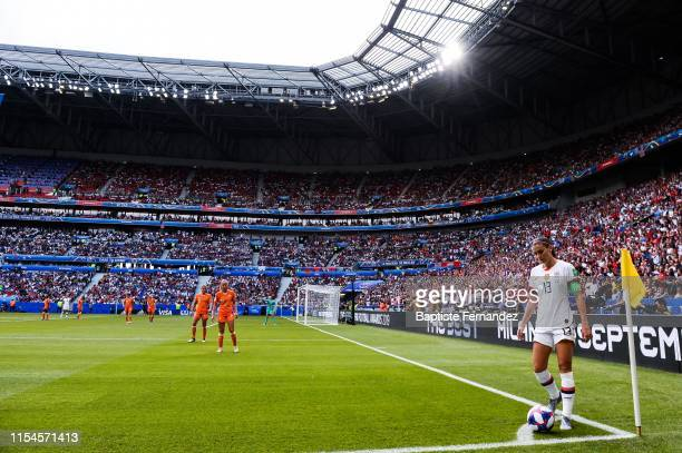 United State's forward Alex Morgan during the 2019 FIFA Women's World Cup France Final match between United States and Netherlands at Groupama...