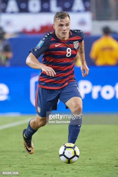 United States forward Jordan Morris dribbles the ball during the CONCACAF Gold Cup Final match between the United States v Jamaica at Levi's Stadium...