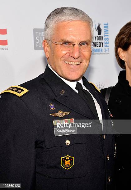 """United States General George Casey attends """"Stand Up for Heroes"""" at the Beacon Theatre on November 3, 2010 in New York City."""