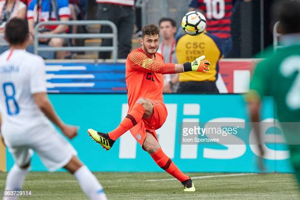 United States goalkeeper Alex Bono shoots the ball during the international friendly match between the United States and Bolivia at the Talen Energy...