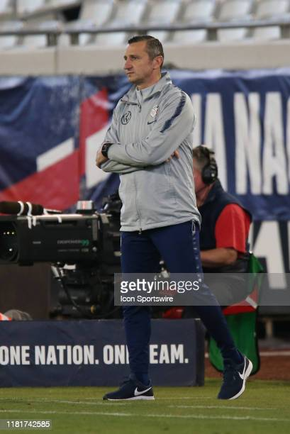 United States head coach Vlatko Andonovski during the game between the United States and Costa Rica on November 10 2019 at TIAA Bank Field in...
