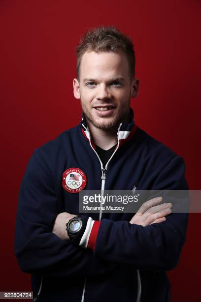 United States Hockey team member Brian O'Neill poses for a portrait on the Today Show Set on February 21 2018 in Gangneung South Korea